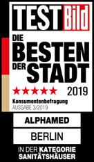 Testbild – die Besten der Stadt 2019 alphamed Berlin in der Kategorie Sanitätshäuser